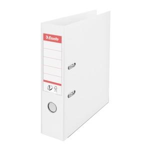 Biblioraft plastifiat ESSELTE Standard, A4, 75 mm, alb