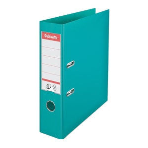 Biblioraft plastifiat ESSELTE Standard, A4, 75 mm, turcoaz
