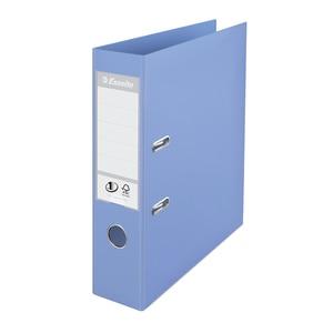 Biblioraft plastifiat ESSELTE Standard, A4, 75 mm, albastru deschis