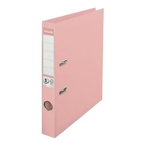 Biblioraft plastifiat ESSELTE Standard, A4, 50 mm, roz