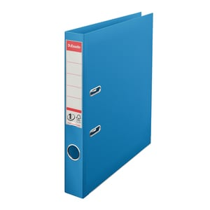 Biblioraft plastifiat ESSELTE Standard, A4, 50 mm, albastru vivida