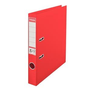 Biblioraft plastifiat ESSELTE Standard, A4, 50 mm, rosu vivida