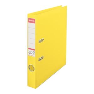 Biblioraft plastifiat ESSELTE No.1 Power, A4, 50 mm, Vivida galben