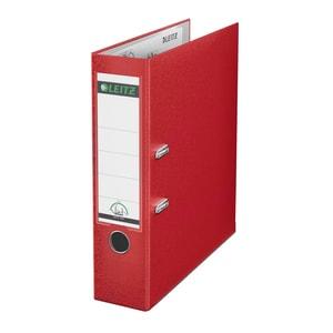 Biblioraft plastifiat/cartonat LEITZ, A4, 80 mm, deschidere 180, rosu