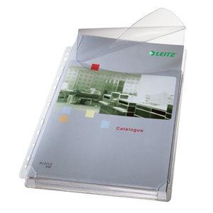 Folii protectie documente cu burduf si clapa LEITZ Jumbo, A4, 170 microni, 5 bucati