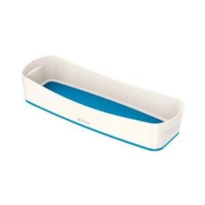 Suport accesorii birou LEITZ MyBox Organiser plastic, alb-albastru