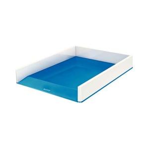 Tavita documente LEITZ WOW, plastic, alb-albastru