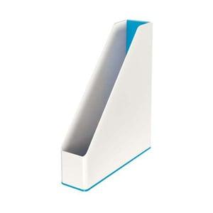 Suport documente LEITZ WOW, plastic, alb-albastru