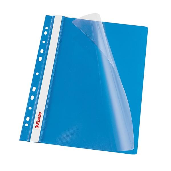 Dosar cu sina ESSELTE, A4, plastic, 10 bucati, albastru