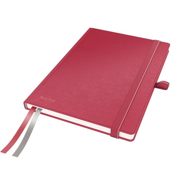Caiet de birou LEITZ, dictando, A5, 80 file, legatura lipita, rosu