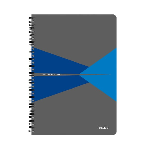 Caiet de birou LEITZ, matematica, A5, 90 file, legatura spirala, albastru