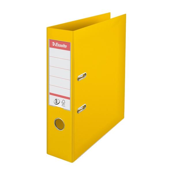 Biblioraft plastifiat ESSELTE Standard, A4, 75 mm, galben