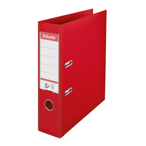Biblioraft plastifiat ESSELTE Standard, A4, 75 mm, rosu