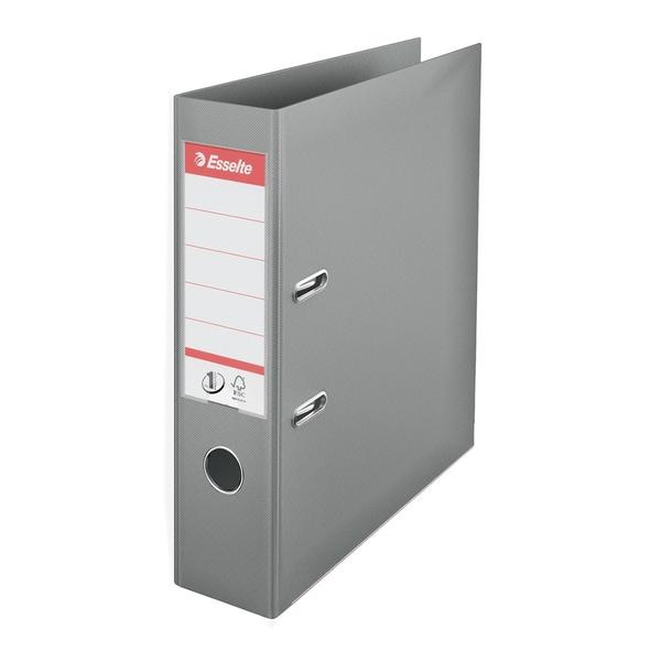 Biblioraft plastifiat ESSELTE Standard, A4, 75 mm, gri