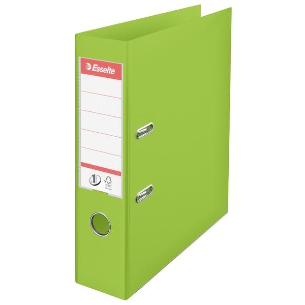 Biblioraft plastifiat ESSELTE Standard, A4, 75 mm, verde vivida
