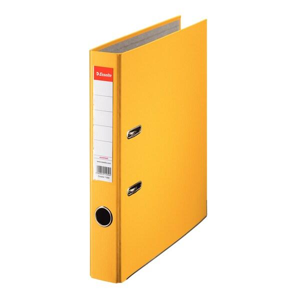 Biblioraft plastifiat/cartonat ESSELTE Economy, A4, 50 mm, galben