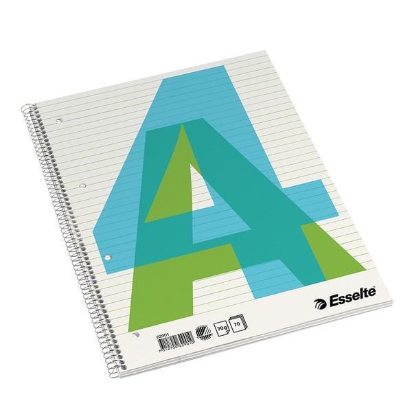 Caiet de birou ESSELTE, dictando, A4, 70 file, legatura spirala, albastru