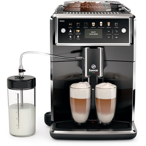 Espressor automat Saeco Xelsis SM7580/00, 1.7l, HygieStea, 12 setari de macinare, negru lucios