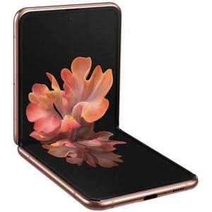 Telefon SAMSUNG Galaxy Z Flip, 256GB, 8GB RAM, Dual SIM, 5G, Mystic Bronze