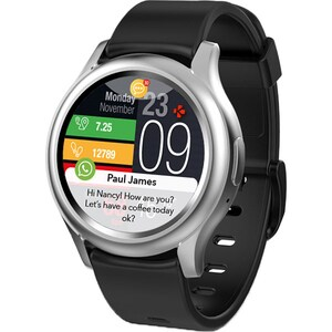 Smartwatch MYKRONOZ ZeRound3, Android/iOS, silicon, argintiu