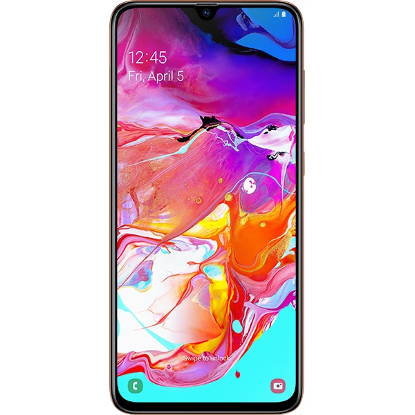 SAMSUNG Galaxy A70, 128GB, 6GB RAM, Dual SIM, Coral