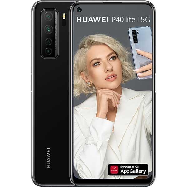 Telefon HUAWEI P40 Lite 5G, 128GB, 6GB RAM, Dual SIM, Midnight Black