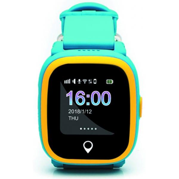 Smartwatch pentru copii E-BODA, GPS Tracker, Android/iOS, silicon, Albastru