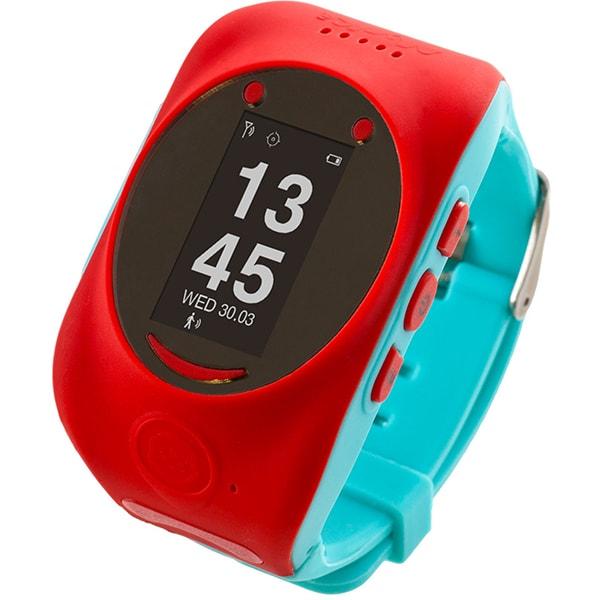 Smartwatch pentru copii MYKI Watch, Android/iOS, 3G, GPS, rosu-albastru