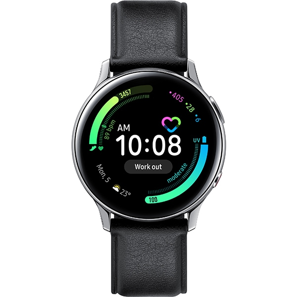 Smartwatch SAMSUNG Galaxy Watch Active 2 40mm, 4G, Android/iOS, Stainless steel, Silver