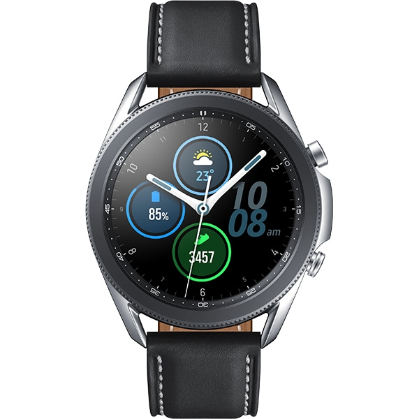 Smartwatch SAMSUNG Galaxy Watch3 45mm, Wi-Fi, Android/iOS, Stainless Steel, Silver
