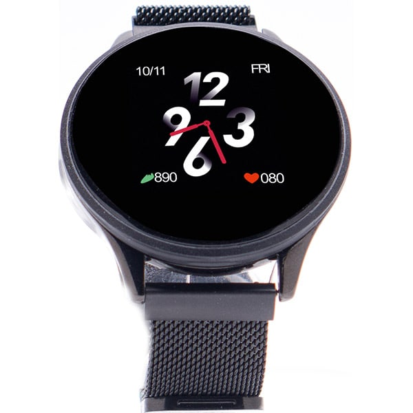 Smartwatch E-BODA Smart Time 450, Android/iOS, silicon, negru