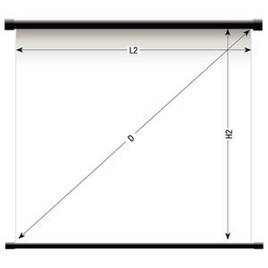 """Ecran de proiectie SOPAR 2180SL, 180 x 180 cm, 100"""", alb-negru"""