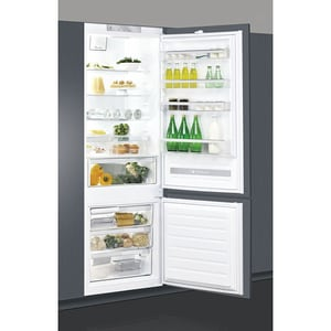 Combina frigorifica incorporabila WHIRLPOOL SP40 801 EU, LessFrost, 400 l, H 193.5 cm, Clasa A+, alb