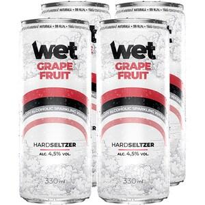 Hard Seltzer Seltzer Wet Grapefruit bax 0.33L x 4 doze