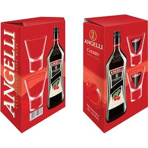Aperitiv Angelli Cherry, 1L + 2 pahare