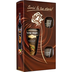 Lichior Rose Mary Chocolate&hazelnuts, 1L + 2 pahare