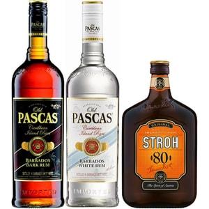 Pachet cadou OLD PASCAS Rum&Stroh, 0.7L