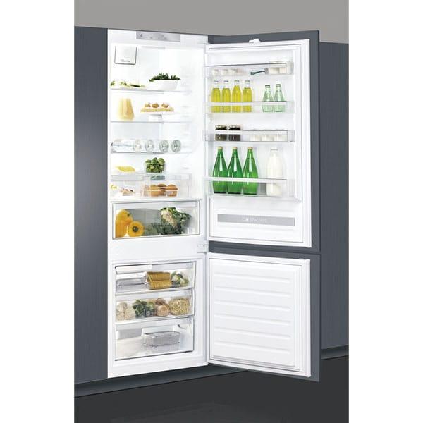 Combina frigorifica incorporabila WHIRLPOOL SP40 801 EU, LessFrost, 400 l, H 193.5 cm, Clasa F, alb