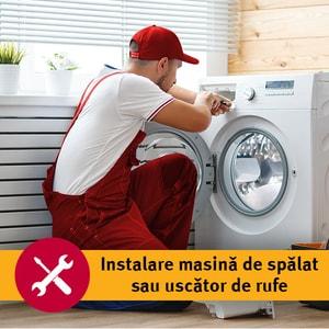 Serviciu instalare masina de spalat sau uscator de rufe in 1-3 zile lucratoare