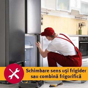 Serviciu instalare - schimbat sens usi frigider/combina frigorifica (fara kit de montaj inclus) in 1-3 zile lucratoare