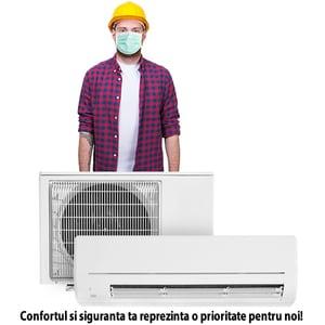 Instalare aer conditionat in 24h de la livrarea aparatului si doar in zilele lucratoare. Oferta valabila doar in Bucuresti, pentru aparatele de 9.000-24.000 BTU, cumparate impreuna cu serviciul de instalare