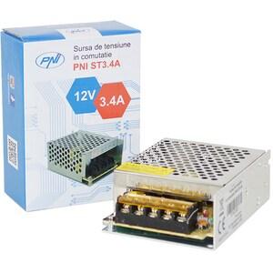 Sursa de tensiune in comutatie pentru sisteme de supraveghere PNI ST3.4A, 12V, 3.4A