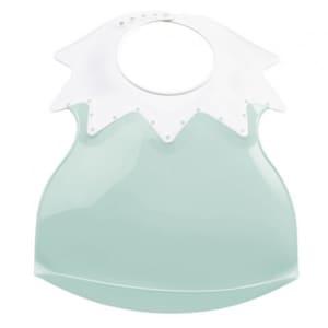 Baveta ultra-soft THERMOBABY Arlequin THE1540, 0 luni+, alb-verde