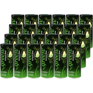 Bautura racoritoare carbogazoasa GREEN Lemon Lime Sleek bax 0.33L x 24 doze