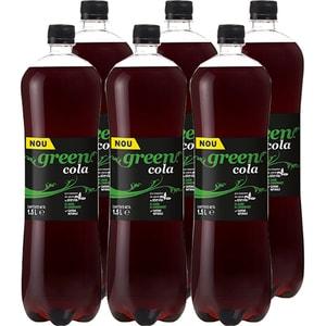 Bautura racoritoare carbogazoasa GREEN Cola bax 1.5L x 6 sticle