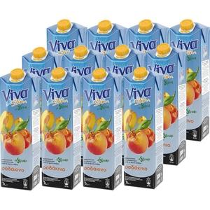 Bautura racoritoare necarbogazoasa VIVA Slim Piersica cu Stevia bax 1L x 12 sticle