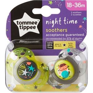Suzeta ortodontica de noapte TOMMEE TIPPEE ONL Planete TT0233, 18-36 luni, 2 buc