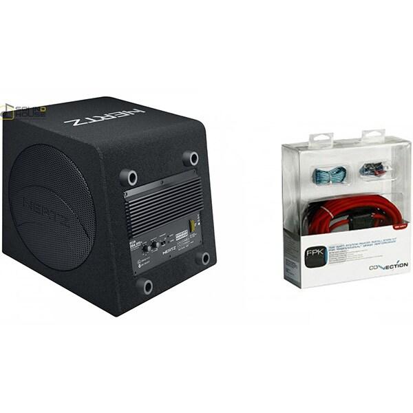 Pachet Subwoofer auto HERTZ DBA 200.3 + kit cabluri FPK 350
