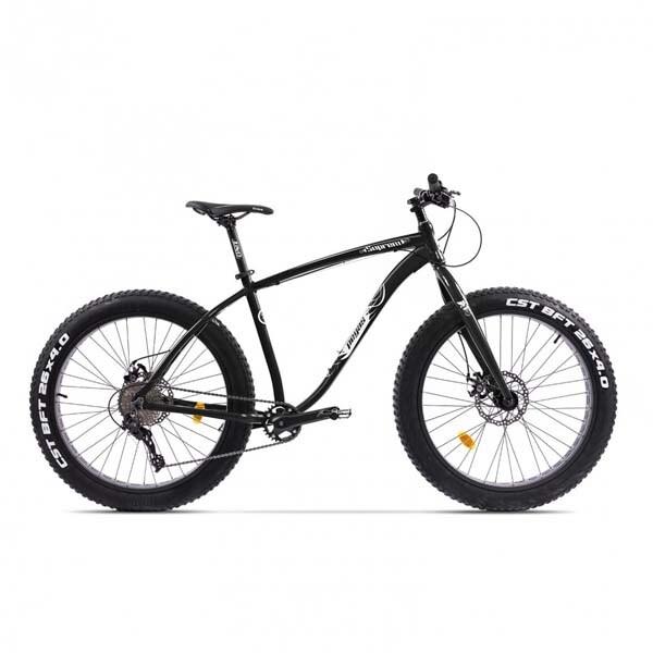 Bicicleta Fat Bike PEGAS Suprem FX 17 10S, Negru Stelar