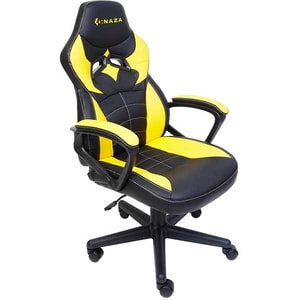 Scaun Gaming INAZA Knight KNIGHT01-BO, negru-galben